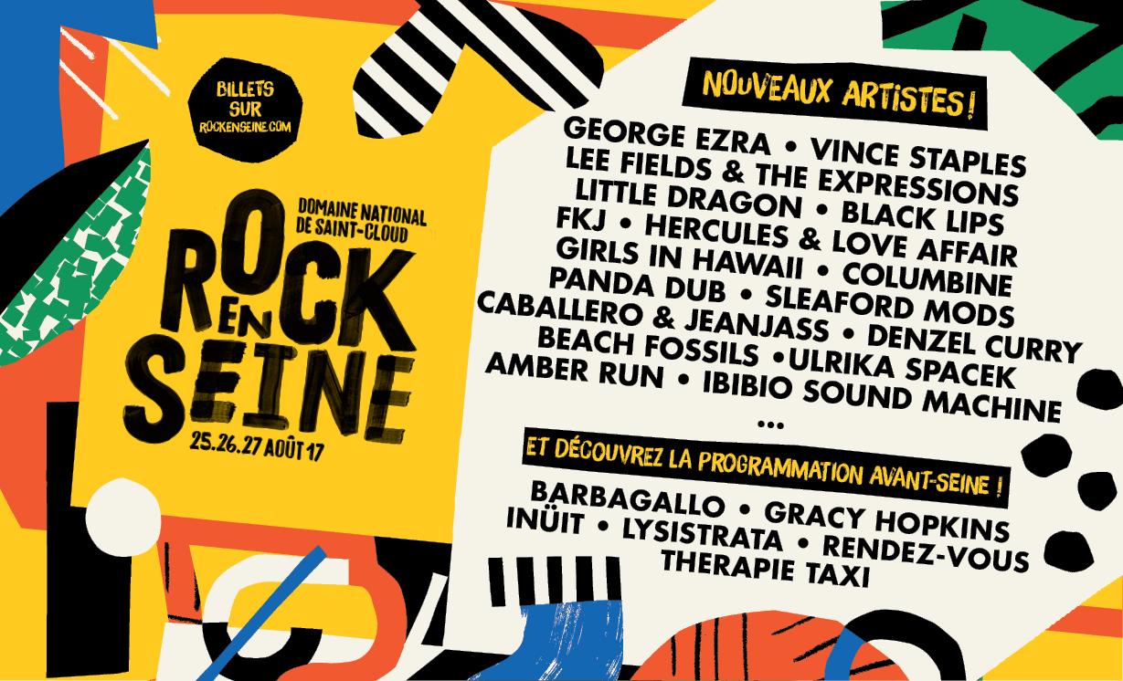 Programmation Rock en Seine 2017