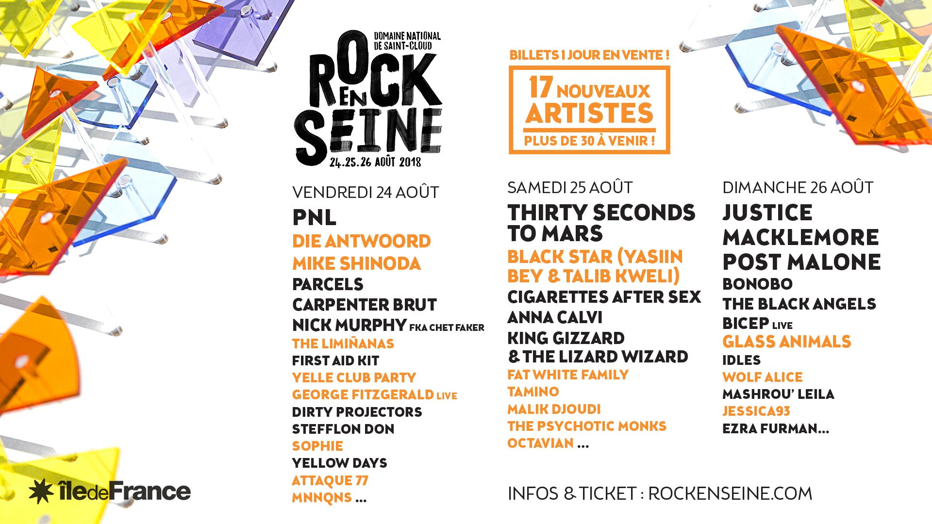 Rock En Seine 2018 Running Order