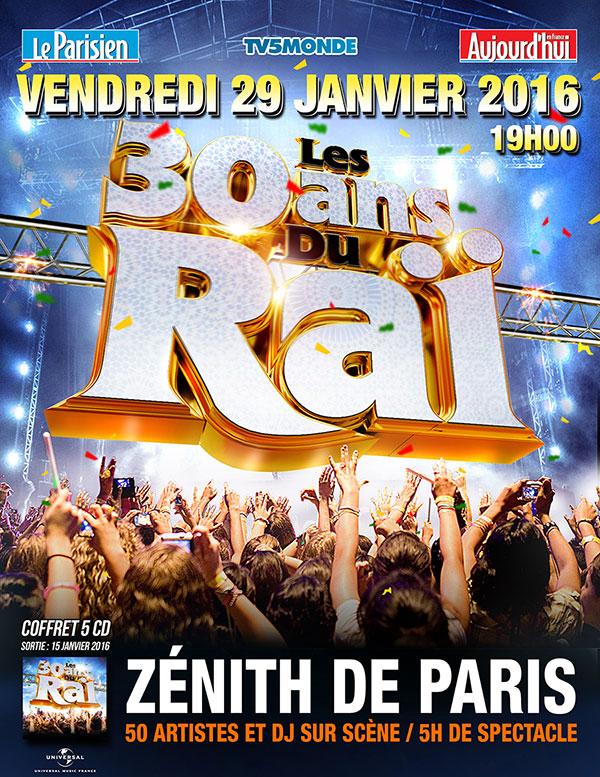 WORLD MUSIC / La musique Raï fêté lors d'un concert-anniversaire le 29 janvier au Zénith de Paris