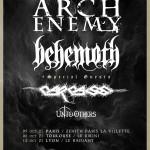Arch Enemy et Behemoth feront concert commun à Paris, Lyon et Toulouse en octobre 2021