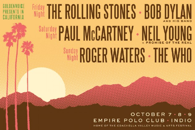 CULTE / Desert Trip Festival : The Rolling Stones, Paul McCartney et Bob Dylan à l'affiche ce week-end en Californie !