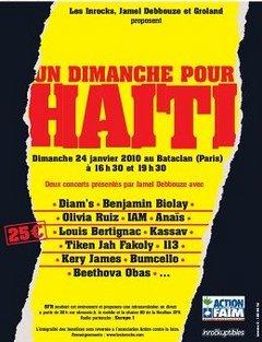 Les Inrocks battent le rappel pour Haïti : Diam's, Olivia Ruiz, B. Biolay...