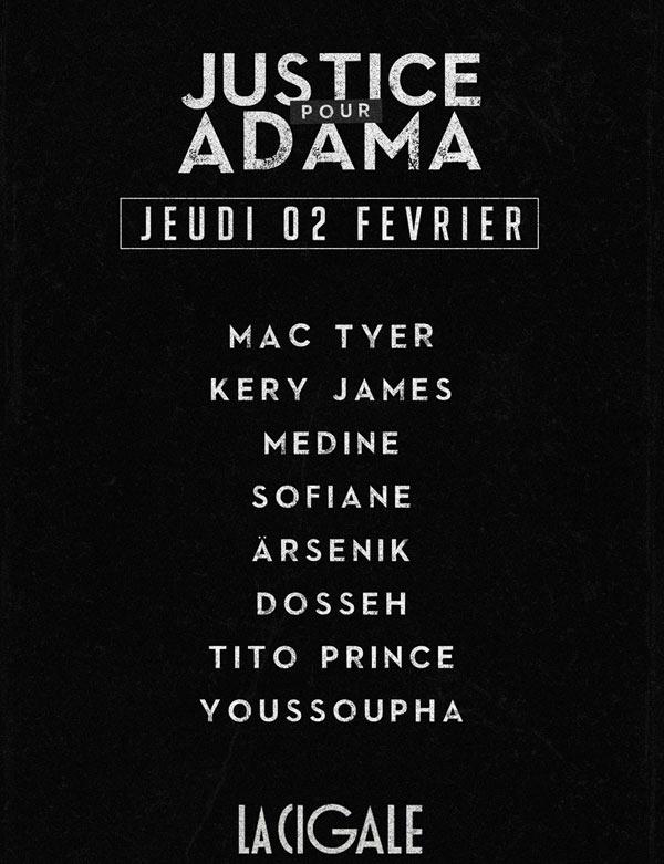 concert Justice Pour Adama