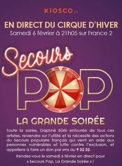 Secours Pop la Grande Soirée solidaire et festive sur France 2 ce soir