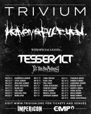 Trivium en concert à Paris et Lyon en novembre 2021 avec en support Heaven Shall Burn
