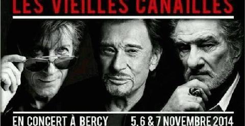 EVENEMENT / Hallyday, Dutronc, Mitchell, des Vieilles Canailles en concert. Mise en vente des billets le 2 mai.