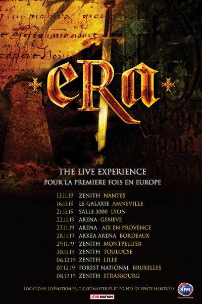Spectacle THE LIVE EXPERIENCE de ERA