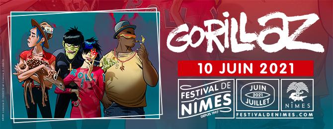GORILLAZ AU FESTIVAL DE NÎMES 2021