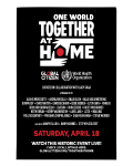 Ne ratez pas le concert géant One World : Together at Home diffusé sur CStar !