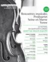 PROQUARTET - RENCONTRES MUSICALES EN SEINE ET MARNE YONNE