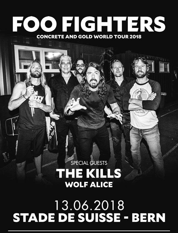 EVENEMENT / Foo Fighters en concert en juin au stade de Suisse à Berne avec en invités The Kills et Wolf Alice