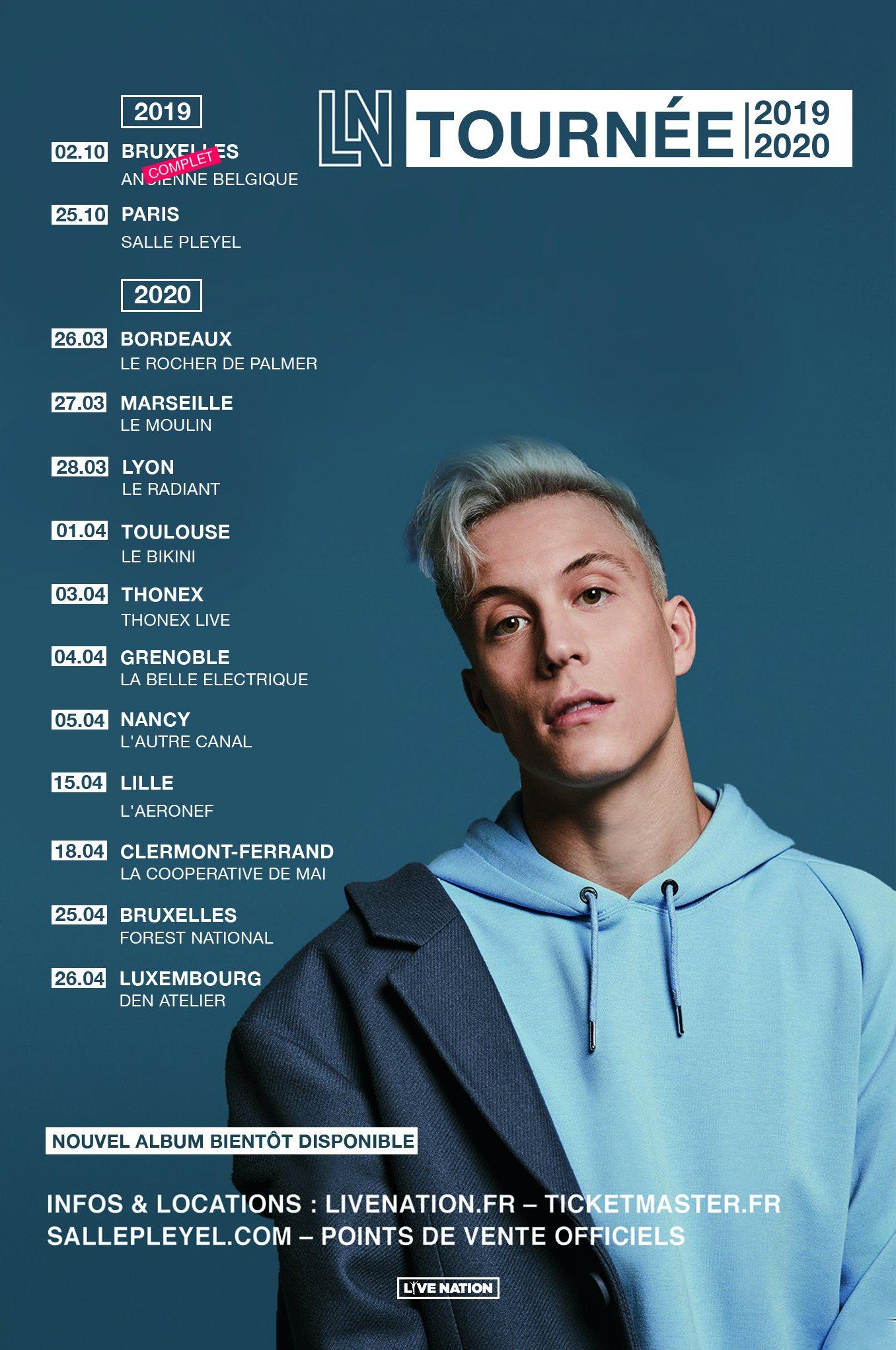 Loïc Nottet en tournée dans toute la France