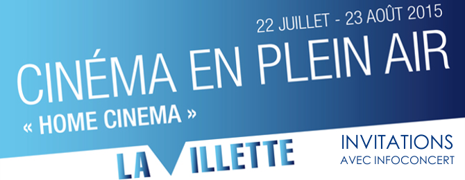 Cinéma en plein air à Paris à La Villette