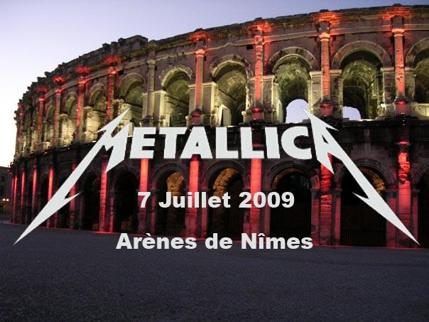 Metallica aux arènes de Nîmes (juillet 2009) filmé par 200 téléphones portables